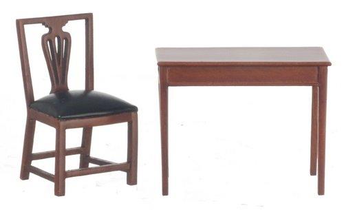 Dollhouse Miniature 112 Scale Walnut Jefferson Hepplewhite Desk Set T6606