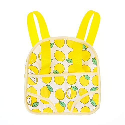 JZ DOLLS Baby Doll Carrier for Kids Children Toddler Storage Bag Backpack Portable Bag for 12-13-14-15-16 Doll Soft Backpack Carrier with Straps Yellow Lemon