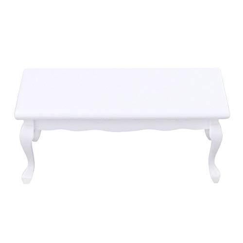 NATFUR European 112 Wood End Table Model Dolls House Living Room Furniture White
