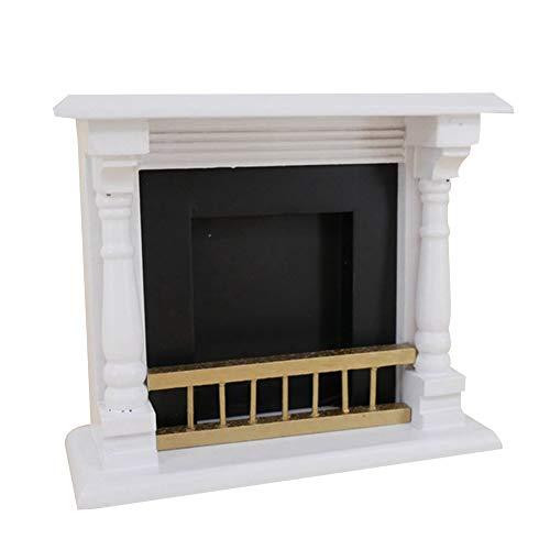 smallwoodi Miniature Furniture Toy Doll House Dollhouse 112 Miniature Wooden Fireplace Model Toy Doll House Living Room Furniture Decor