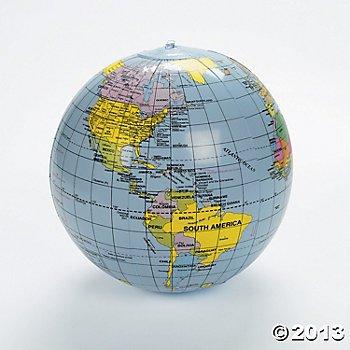 Inflatable World Globe - 11