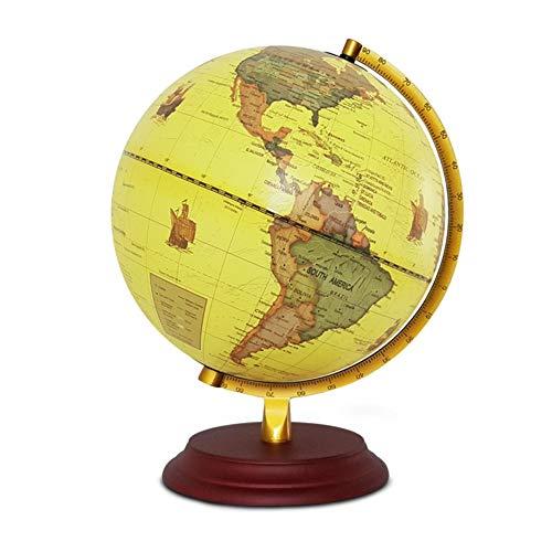 BWAM-TY Interactive Swivel Globe Educational Geographic Modern Desktop Decoration Large Rotating Tabletop Globe 25 cm Illuminated LED for School Office Family