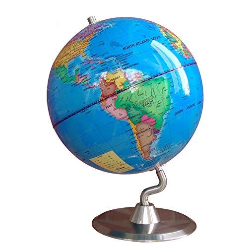 Childrens Puzzle Globe Teaching Decoration Rotating Tabletop Globe 25 cm Teaching Decoration World Globe Antique Decorative Desktop Color  Blue