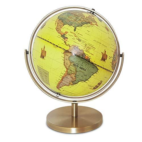 Lumeng Inflatable World Globe 25 cm Teaching Decoration Antique Decorative Desktop Earth Planet Ball Rotating Tabletop Globe