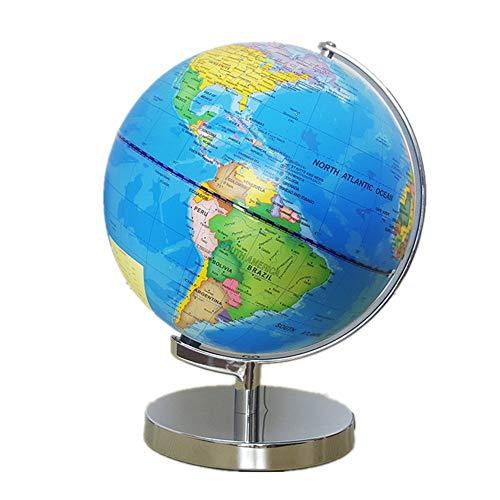 Sunsamy World Globes Rotating Globe World Map Educational Large Rotating Tabletop Globe 25 cm Illuminated LED
