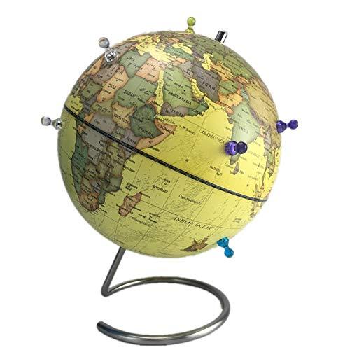 TAESOUW-Office Magnetic Globe Teaching aids Universal Swivel Globe Rotating Tabletop Globe 25 cm