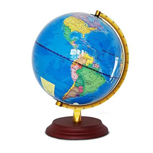 TAESOUW-Office Rotating Globe World Map Educational Large Rotating Tabletop Globe 25 cm Illuminated LED