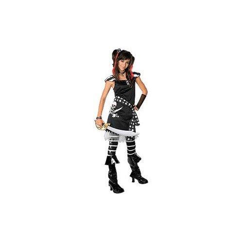 Drama Queens Scar-let Pirate Tween Halloween Costume Size 2-4 Medium by Rubies