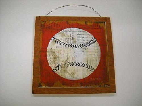 Baseball Sports Wall Art Sign Boys Bedroom Decor