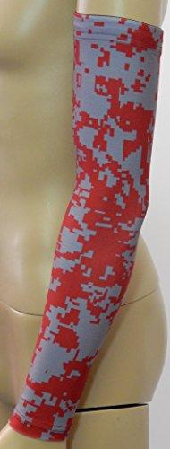 NEW Sports Farm - Red Gray Digital Camo Arm Sleeve Youth Medium