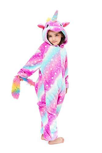 AYHome Kids Animal Onesie Unicorn Costume Christmas Halloween Cosplay Pajamas Star Sky 4-5 Years