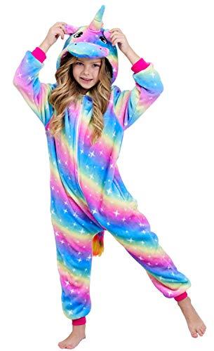 Unicorn Costume Onesie Pajamas Unicorn for Girls Rainbow Galaxy V2 8-9 Years