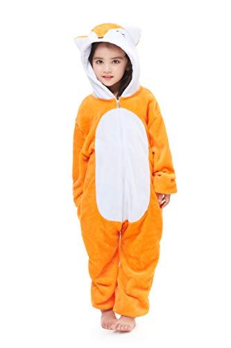 Yutown New Kids Unicorn Costume Animal Onesie Pajamas Halloween Dress Up Gift Vulpes 140