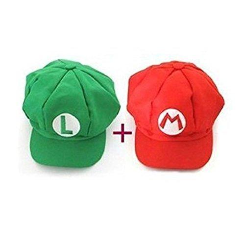 DJSR Imports Super Mario role play Bros Luigi Costume Hat Unisex