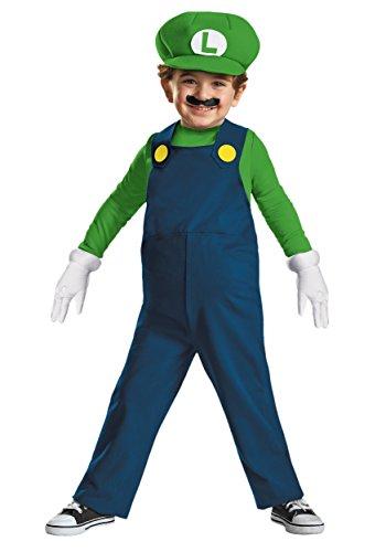 Disguise Nintendo Super Mario Brothers Luigi Boys Toddler Costume Medium3T-4T