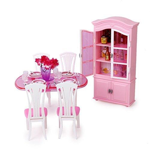 No brand goods doll house furniture dining room set Barbie doll set