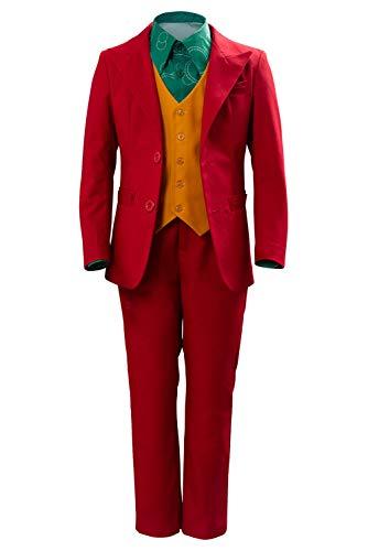 Sinastar Kids Joker 2019 Costume Suit Halloween Cosplay Retro Red Long Sleeve Shirts Outfit