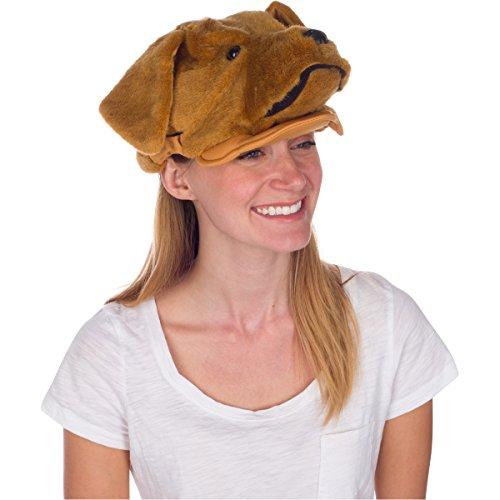 Rittle Golden Retriever Dog Animal Hat Realistic Costume Headwear