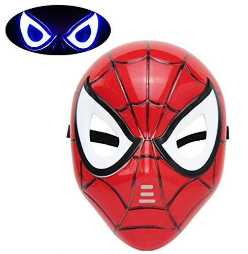 Mizzuco Halloween Cosplay LED Eye Mask For ChildrenRed