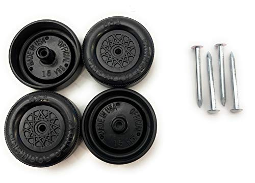 Pine Derby Car BSA Speed Wheels and Axles Kit  Professionally Lathed  Pinewood Car Wheels