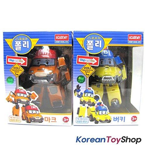Robocar Poli MARK BUCKY Transformer Robot Car Toy Action Figure Academy Genuine item G4W8B-48Q48758