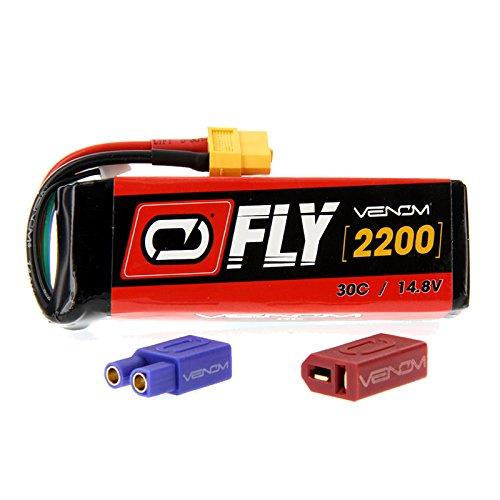 Sig Sbach XA-41 3D Sport 30C 4S 2200mAh 148V LiPo Battery with UNI 20 plug by Venom Compare to E-flite EFLB22004S30