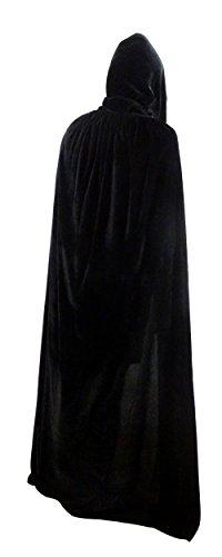 Penta Angel Velvet Hooded Cloak Role Play Costume Halloween Party Cape 77 Black