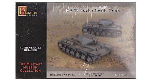 KV1S Soviet Battle Tanks 2 Snap Kit 1-72 Pegasus