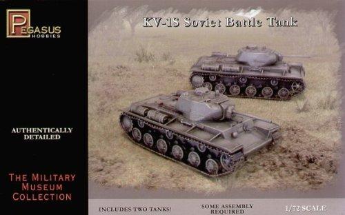 KV1S Soviet Battle Tanks 2 Snap Kit 1-72 Pegasus by PGH7667