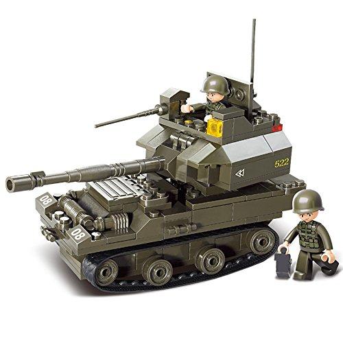Sluban M38-B0282 Military Blocks Army Bricks Toy - T-90 Main Battle Tank