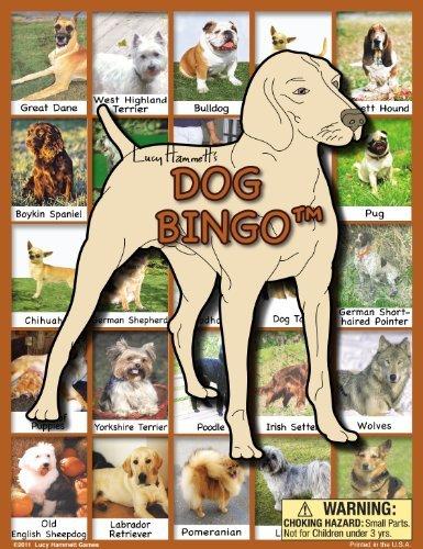 Dog Bingo Board Game by Lucy Hammett Games