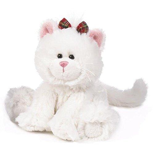 Pretty Kitty White 6 Inch - Christmas Stuffed Animal by Ganz HX11123
