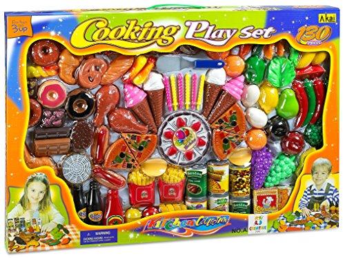 Creative Time 130-Piece Pretend Play Food Assortment Set