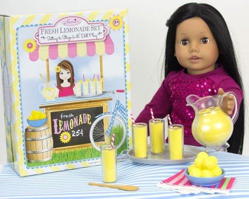 Pretend Play Food Sophias Lemonade Serving Set for 18 Inch Dolls 9 Piece Set