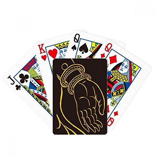 DIYthinker Buddhism Black Yellow Hand Pattern Poker Playing Cards Tabletop Game Gift