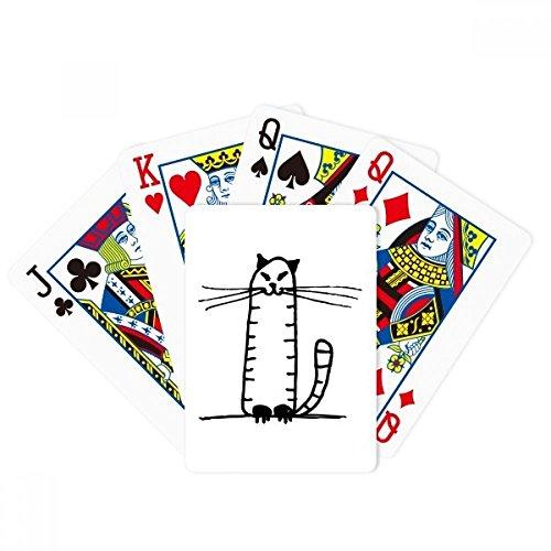 DIYthinker Cat Stripe Sit Black Line Poker Playing Cards Tabletop Game Gift