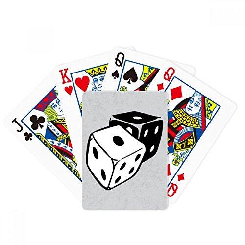 DIYthinker Dice Casino Black White Illustration Poker Playing Card Tabletop Board Game Gift