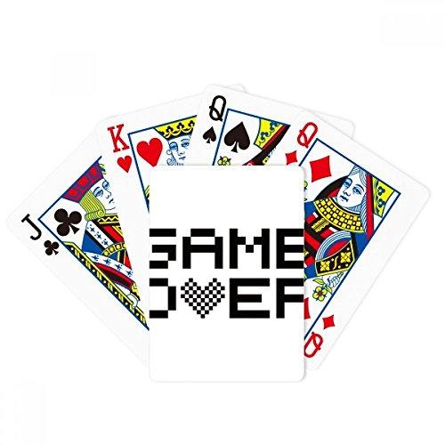 DIYthinker Grey Black Game Over Pixel Poker Playing Card Tabletop Board Game Gift