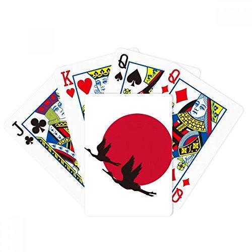 DIYthinker Japan Red Black Flying Geese Poker Playing Cards Tabletop Game Gift