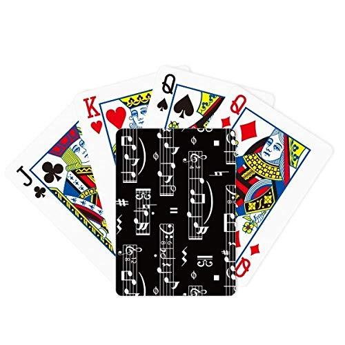 DIYthinker White Music Notes Bar Black Poker Playing Card Tabletop Board Game