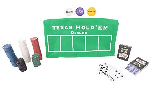 Toyland Texas Holdem and Blackjack Card Game Set - Casino Games