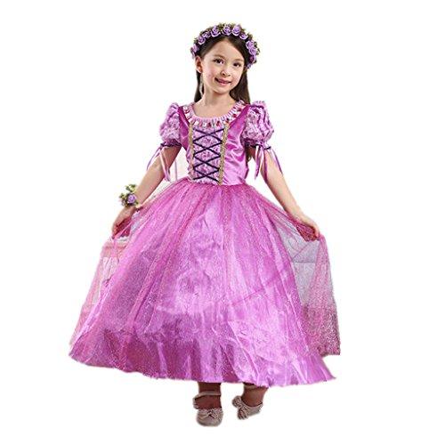 DreamHigh Girls Halloween Princess Rapunzel Costume Dress Size 9-10 Years