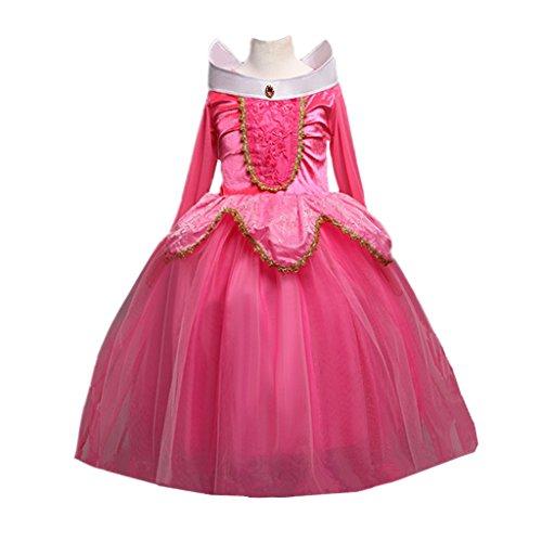 DreamHigh Sleeping Beauty Princess Aurora Party Girls Costume Dress Size 9-10 Years