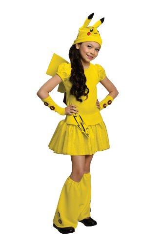 Pokemon Girl Pikachu Costume Dress Large