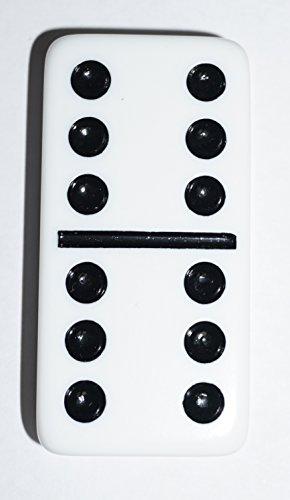 CHH White Double 6 Jumbo Dominoes