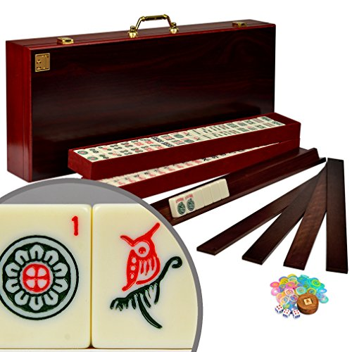 American Mahjong Mah Jongg Mahjongg 166 Tiles All-in-One RacksPushers Set - The Classic Royal II
