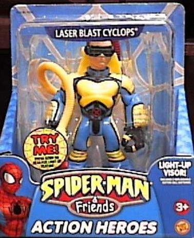 Spider-Man Friends Laser Blast Cyclops Action Figure by Toy Biz