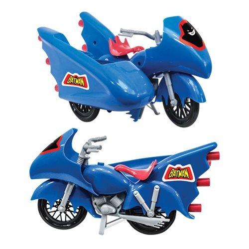 Figures Toy Company DC Comics Retro Batman Batcycle Playset Blue