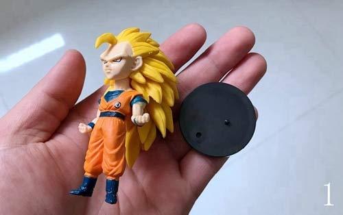 Flowe Mow Dragon Ball Action Figure - Super Saiyan Goku Vegeta Fat Majin Boo Buu - PVC Model with Base Chassis - Anime Collection Kid Toy - 1 pcs
