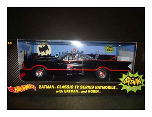 Hot Wheels Batmobile 1966 with Batman and Robin figures 118 Toys for Boys